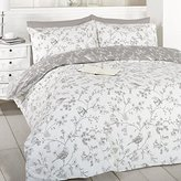 Art French Bird Toile Duvet Cover Set (Taupe, King)