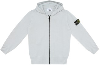 Stone Island Junior Wool-blend hoodie