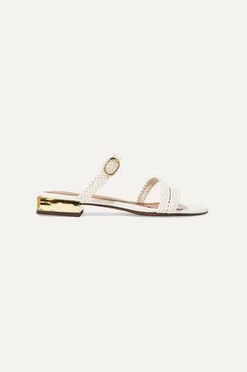 Souliers Martinez - Granada Braided Leather Sandals - White