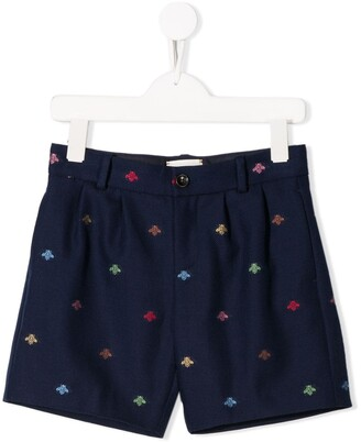 Gucci Kids Bee embroidered shorts