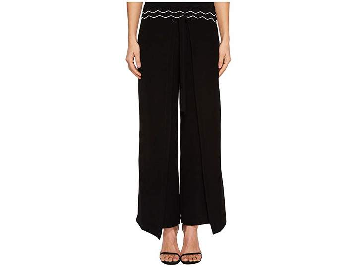 Yigal Azrouel Tie Front Wrap Pants Women's Casual Pants