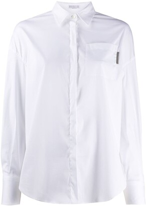 Brunello Cucinelli Plain Long-Sleeved Shirt