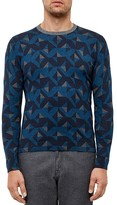 Ted Baker Malone Geo Print Sweater