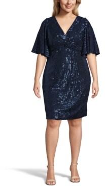 Adrianna Papell Plus Size Sequin Sheath Dress
