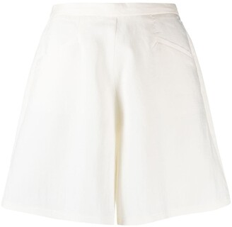 Forte Forte High-Waisted Wde-Leg Shorts