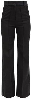 Paco Rabanne Tailored Grain De Poudre-wool Trousers - Black