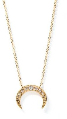 Anzie Aztec Large Moon Crescent Necklace