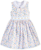 Bonnie Jean Floral-Print Peter Pan Collar Dress, Toddler & Little Girls (2T-6X)