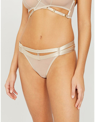Bordelle Art Deco tulle thong