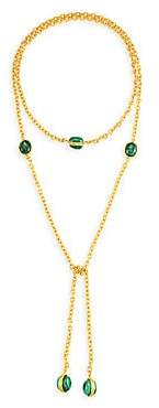 Sylvia Toledano Women's Cravette 22K Yellow Goldplated & Malachite Necklace