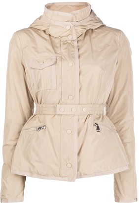 Moncler Belted Zip-Front Jacket