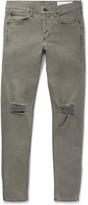 Rag & Bone One Skinny-Fit Distressed Stretch-Denim Jeans