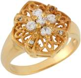 Jewellery Liquidation Canada 10k Yellow Gold Round Cut CZ Delicate Filigree Design Setting Ladies Ring