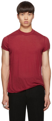 Rick Owens Red Small Level T-Shirt