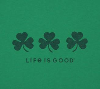 Life is Good Women's Three Shamrocks Crusher Tee