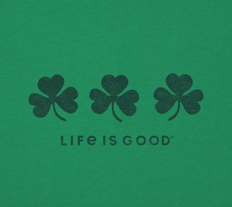 Life is Good Women's Three Shamrocks Crusher Tee