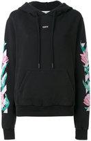 Off-White floral hooded sweatshirt - women - Cotton - XS