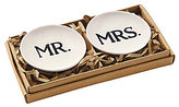 Mud Pie Wedding Collection Mr. & Mrs. Ring Holder Set