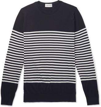John Smedley Striped Sea Island Cotton Sweater