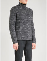 Polo Ralph Lauren Marled chunky-knit turtleneck wool-blend jumper