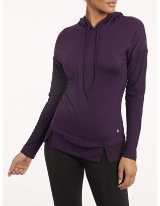 Bally Women's Active Pullover Long Sleeve Ribbed Hoodie
