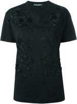 Dolce & Gabbana floral embroidery T-shirt