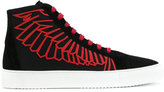 Marcelo Burlon County of Milan high-top lace-up sneakers