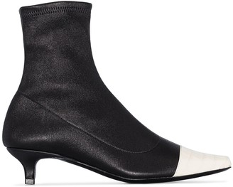 BY FAR Karl 30mm cap toe ankle boots