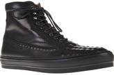 Alexander McQueen textured hi-top sneaker