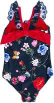 MonnaLisa floral print swimsuit - kids - Polyester/Spandex/Elastane - 7 yrs