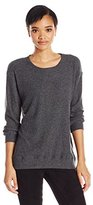 Michael Stars Women's Super Soft Madison Rib Oversized Sweatshirt