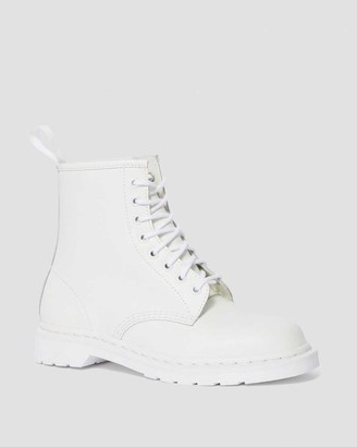 Dr. Martens White Smooth Leather 1460 Mono Lace Up Boots - 37