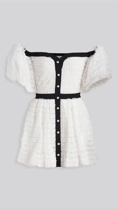 Philosophy di Lorenzo Serafini Off Shoulder Mini Dress