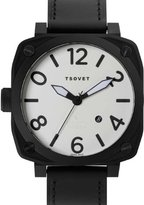 Tsovet At76 Men's Black Leather Strap Watch SVT-AT76-330110-02