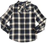 Plaid Cotton Flannel Shirt W/ Lurex