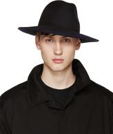 Yohji Yamamoto Black Wool Fedora