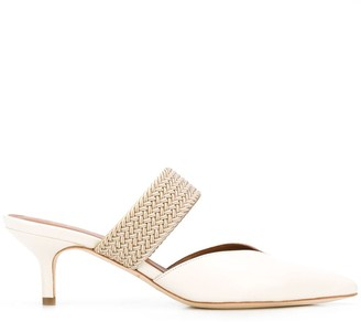 Malone Souliers Woven Strap Pointed Toe Mules