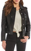 Gianni Bini Leon Genuine Leather Moto Jacket