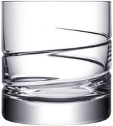 """Orrefors Crystal Double Old Fashioned Glass """"Swerve"""""""