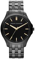 Armani Exchange Ax2144 Stainless Streel Bracelet Strap Watch, Gunmetal/black