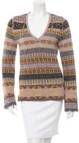 Jean Paul Gaultier Metallic V-Neck Sweater