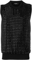 DSQUARED2 embellished vest - men - Cotton/Viscose - S