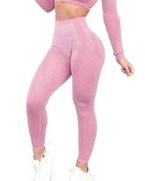 Yaavii Women High Waist Seamless Yoga Leggings Butt Lifting Squat Proof Workout Running Yoga Pants