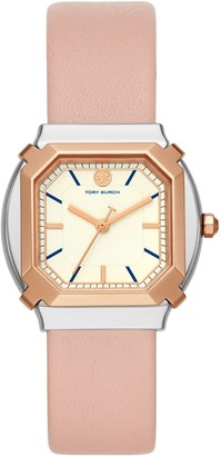 Tory Burch Blake Watch, Pink Leather/Rose Gold, 35 MM