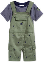 First Impressions 2-Pc. Striped T-Shirt & Shortall Set, Baby Boys, Only at Macy's