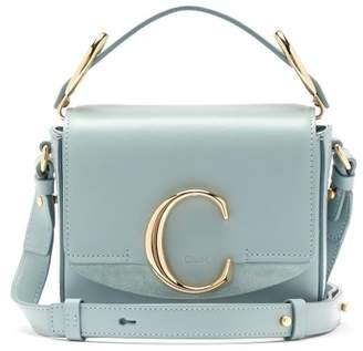 Chloé The C Mini Leather Cross-body Bag - Womens - Blue