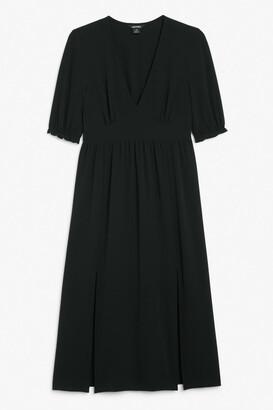 Monki Puff sleeve midi dress