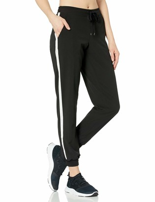 Andrew Marc Women's Active Woven Jogger with Side Stripe