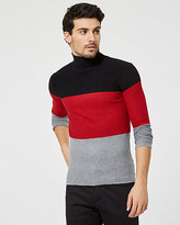 Le Château Stripe Knit Turtleneck Sweater