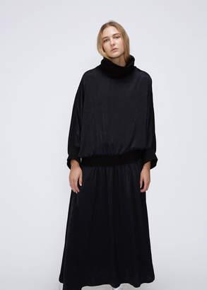 Nocturne #22 Long Sleeve Ribbed Turtleneck Dress